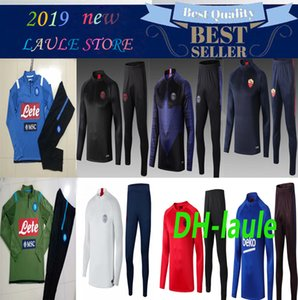 19 20 Men psg Napoli allenamento di calcio tuta roma calcio tuta 2019 2020 Paris Napoli Survêtement de football CHANDAL adulti fare jogging