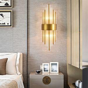 Nordic postmodern wall lamp creative hotel bedroom bedside LED wall light aisle lights corridor stair crystal wall lamp - M44