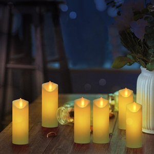 3pcs / 6pcs LED elektronische flammenlose Kerzen Kerzen Lichter Batterie Partei Hochzeit Geburtstag Festival Romantische leichte Schwingen Operated Mode