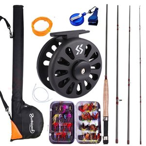 Sougayialng Fly Fishing Rod Set 2.7M 8.86FT #5 6 Fly Rod and Fly Reel with Fishing Bag Line Accessories Lures Box Combo