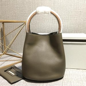 Luxurious2019 Hard Ring Handle Hand Bill Of Lading Shoulder Calf Bucket Genuine Leather Woman Package