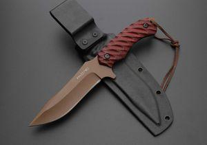 Kırmızı Hunter 5inch G10 düz Bıçak Adul A523 insan için bıçak kamp Taktik bıçak Bıçaklar şimdi hediye bıçak sabit