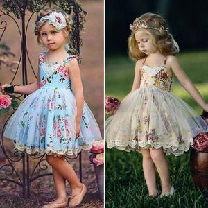 Vestito da ragazza di fiore Abiti da cerimonia in pizzo con cerimonia formale