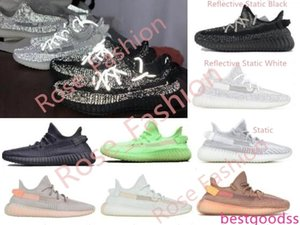 V2 Black Refective White Static 3M GID EG5293 Glow in the Dark Hyperspace Clay True Form Men Trainers Running Shoes Women Designer Sneakers
