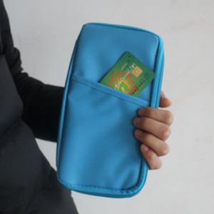 Titolare della carta di moda multifunzione titolare del passaporto di corsa di credito di identificazione del raccoglitore della carta Holder Cash Organizer Bag borsa del portafoglio di 7 colori VT0659