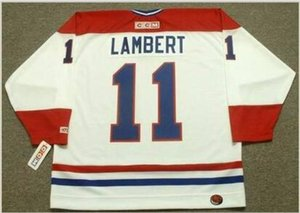 Custom Men Youth women Vintage #11 YVON LAMBERT Montreal Canadiens 1978 CCM Hockey Jersey Size S-5XL or custom any name or number