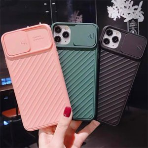 Ultra-thin Slider Camera Privacy Protection Telephone Case For iPhone 11 11Pro 11Promax Luxury Shockproof Hard PC Cover Coque Funda