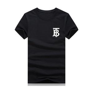 Nuevo Mens T'B Designer T Shirt Cuello redondo 2019 Camiseta de moda de verano Camiseta masculina Tops de algodón Camiseta de impresión negro ropa de alta calidad