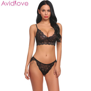 Avidlove Sexy Costumi Sexy Set Lingerie Set Reggiseno in pizzo Bralette con sex shop Set con panty lenceria