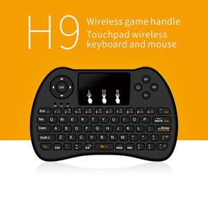 H9 Wireless Backlit Keyboard Fly Air Mouse Backlight Multi-Media Remote Control Touchpad For Android TV BOX