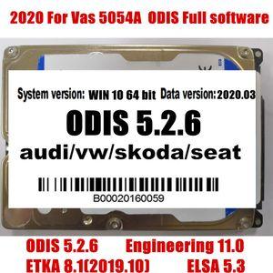 2020 Vas 5054A Odis 5.2.6 del software con Engineering 11.0 / EKA 8.1 / 5.3 Elawin VAS 6154 500GB HDD per AUDI / V-W GEKO linea di codifica login