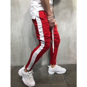 Men's Pants Men 2021 Autumn And Winter Casual Sports Color Matching Hip-hop Fitness Foot Mouth Zipper Stitching Trousers