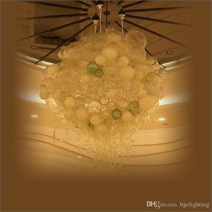 Hochzeit Mittel Bunt Deckenleuchte Modern Modisch LED Kronleuchter geblasenem Glas Kronleuchter Hand geblasenem Glas Kronleuchter