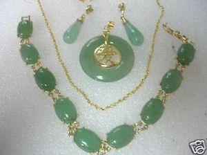 Nuovi monili caldi di vendita della collana del braccialetto della giada dei monili di modo che regolano i monili della festa nuziale