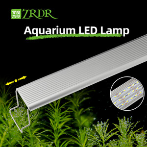 ZRDR Aquarium Plant Grow Led Light A Series Mini Breve Aquarium Water Plant Fish Tank Soporte Metal Sunrise Sunset