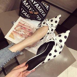 낮은 기금 실크와 새틴 국수 슬리퍼 4 색 여성 신발 35-39 코드로 매혹적인 2019