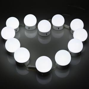 드레싱의 허영 거울 메이크업 표 설정에 대한 디 밍이 빛 12Bulbs 할리우드 스타일 LED 화장 거울 조명 키트