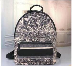 Новых прибытия модельеров холста рюкзак письма шаблон молния сумки для женщин школьных сумок большой емкости саквояж 29x10x33c