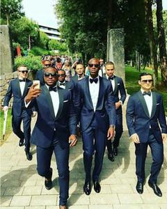 Neueste Design Herren Anzüge Schal Revers Hochzeit Suts Für Männer Slim Fit Bräutigam Anzüge One Button Maßgeschneiderte Prom Anzüge Zweiteiler