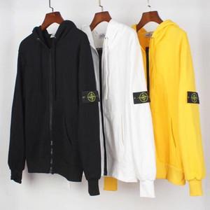 design da marca na moda chapéu elegante desgaste zíper hip-hop design da marca High Street Outdoor Sports Jacket hoodie dos homens do hoodie