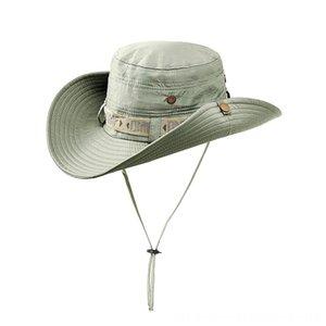 Nuevo verano Camo Pescador informal Pesca cubo que acampa yendo de viaje Montañismo Sombrero Sombrilla Bonnie sombrero para las mujeres las gorras de camionero