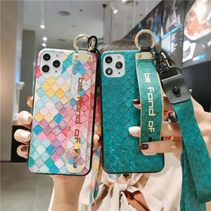 Case de luxe Designer de téléphone pour l'iphone 11 Pro Max Xs Xr X Bracelet souple couverture pour l'iphone 8 7 6 Plus 6s Avec Longe