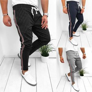 Nuovi pantaloni casual da uomo Pantaloni alla caviglia elastici con cinturino alla caviglia Pantaloni sportivi Homme Fitness Pantaloni lunghi da uomo 2019