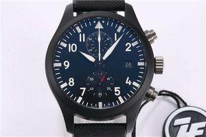 ZF fábrica de Top PILOTO pistola reloj de cerámica para hombre reloj suizo caja de cerámica 89361 automático de alta resistencia mecánica cronógrafo del cristal de zafiro