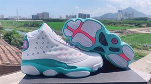 2020 New Arrival Jumpman 13 GS Aurora Green GS Playground 13s Women Basketball Sports Shoes Sneakers High 5.5~8.5