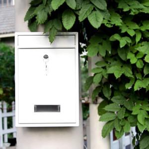 Garten Abschließbare Wand befestigte Hängeeisen Postbrief Mailbox mit Schlüsseln Passwort Mailbox Zeitung BoxOutdoor Breitwandkasten