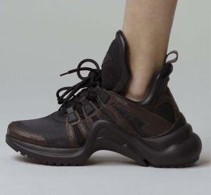 Archlight Sneakers SS18 Rare Black White Lace Up Moda de Paris Archlight Formadores de couro feio Dad Sneakers