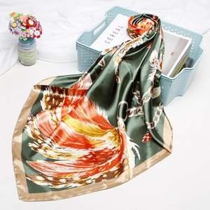 New fashion wild simulation silk small square towel plum print shopee headscarf shawl scarf free shipping