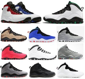 Nouveau 10 Seattle Westbrook rouge Blue Tinker Ciment Fusion Rouge Désert Camo Men Basketball Chaussures 10S Cool Grey Je suis Back Steel Sneakers