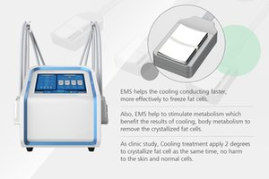 La congelación de grasa ccsme Cryolipolysis Máquina para no vacío criolipólisis ccsme paletas dispositivo con 4 Handlles para adelgazar cuerpo