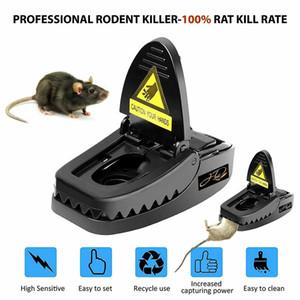 Venta al por mayor controlable Ratonera reutilizable rata ratones ratón captura de trampas de cebo ratonera Negro Snap primavera roedor Catcher Plagas