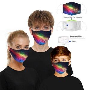 Filtro digital máscara máscaras del fiesta de Halloween Cosplay Deportes de la cara de la bandera cráneo reutilizable del polvo anti máscara máscaras PM2.5 anti-niebla de protección GGA3356-3