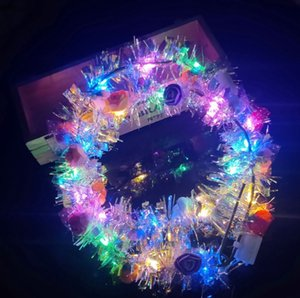 Новый Десять Огней Венок Высокий Яркий Золотой Пузырь Венок Светящийся Венок Вспышка Головной Убор Яркий СВЕТОДИОДНЫЙ Гирлянда Невесты Праздничный Концерт Головные Уборы CY47