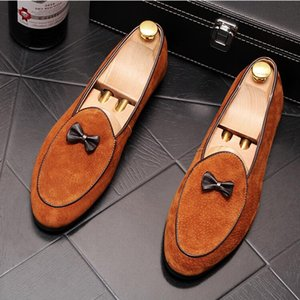 Luxury Men Fashion Canvas Business Shoes Doug Leather Pointed Toe Classic Wedding Slip-On Penny Casual Flat Shoes W406