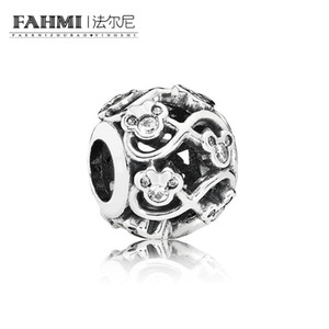 FAHMI 100% 925 Sterling Silver 791462CZ Beaded Original Jewelry Women's Wedding Holiday Charming Gift