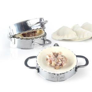 Novas ecologicamente correta Ferramentas Pastelaria aço inoxidável Dumpling Máquina Wrapper Massa Cortador Pie Ravioli Dumpling Acessórios Mold cozinha