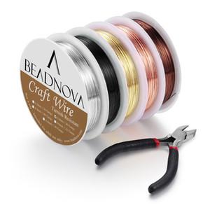 Beadnova Beading Wire per la produzione di gioielli per la produzione di gioielli (5 pezzi, calibro 26)
