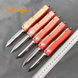 NUEVO! Micro-Tech cuchillo automático UTX 85 de doble acción táctica interruptor clase de carburo cuchillo de la manija de aluminio de la aviación de naranja navajas