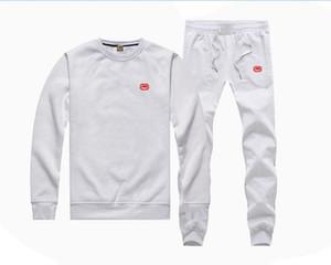 03 s-5XL Ücretsiz Kargo eck o-boyun Kapüşonlular + pantolon siyah mektup bahar Erkekler Hip Hop Pamuk Tişörtü uyacak