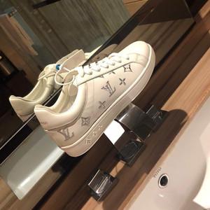 Neue Männer und lässige Mode Sportschuh Luxus-Designer-Schuhe der Frauen Kalbsleder Seidenstickerei paar kleine weißen Schuhe