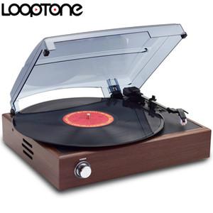 Freeshipping 33/45/78 rpm estéreo vinil lp record player toca-discos jogadores com 2 alto-falantes embutidos line-out ac110 ~ 130v220 ~ 240v