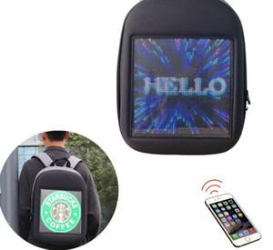 동적 led 배낭 캐주얼 숄더 가방 남자와 여자 빛나는 지능형 LED 배낭 디스플레이 화면 크기 237 * 237 mm