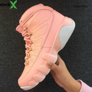 Jumpman Großhandel 9 Gs Vivid Pink Weiß Jumpman 12 Frauen Jordon Basketballschuhe 9s Mädchen Sport-Turnschuhe der Qualitäts-Trainings Outfoor Größe
