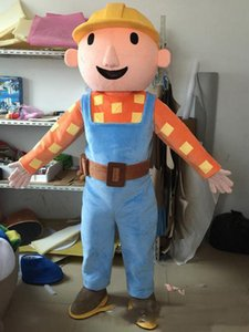 2020 Discount-Fabrikverkauf Erwachsene Bob der Baumeister-Maskottchen-Kostüm Bob der Buildermascot Kostüm Bob der Baumeister-Kostüm