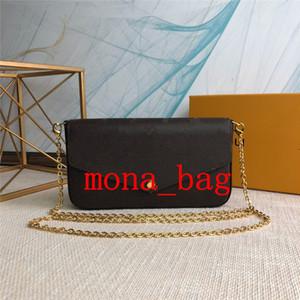 Neuesten Designer-Luxus-Handtaschen Geldbörsen Taschen 3 Stück / Set weisefrauenentwerfers Schultertaschen Qualitätsmarkenbeutel Größe 21 * 11 * 2 cm