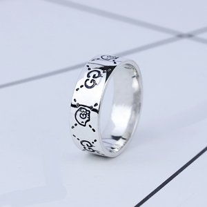 Fashion Marke 925 Sterlingsilber-Schädel Designer-Ringe für Frauen Männer Paar-Partei-Hochzeit-Finger-Ringe Luxus-Schmuck-Geschenk für die Braut